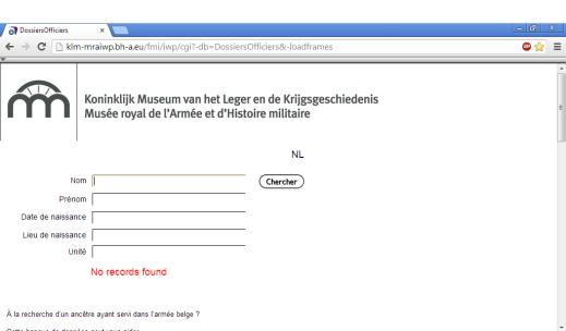 base de données officiers en ligne