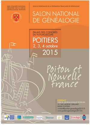 Le prochain congrés de la fédération de généalogie se tiendra les 2,3 et 4 Octobre 2015 prochain !