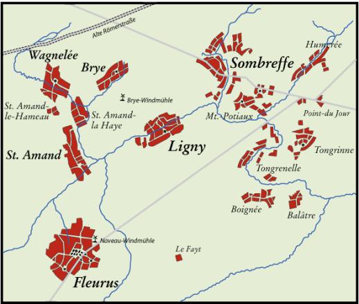 L'armée Napoléonienne pris le dessus sur l'armée prussienne  à Ligny, entre sombreffe et fleurus le 16 juin 1815